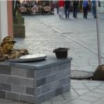 チュミル像(スロバキア・ブラチスラヴァ編No.15)