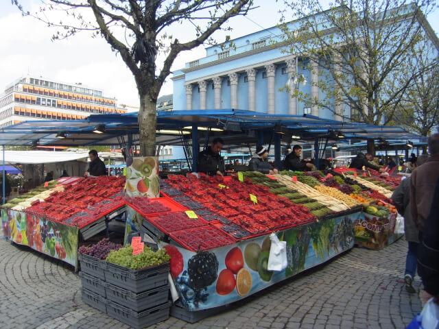 ストックホルムのマーケット